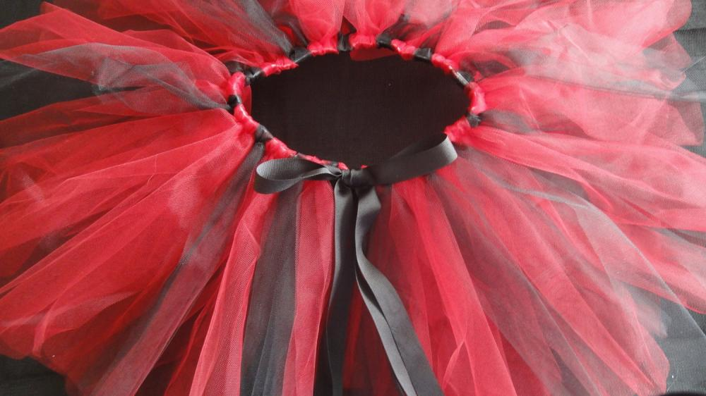 Tutu Petticoat in Fun Red and Black